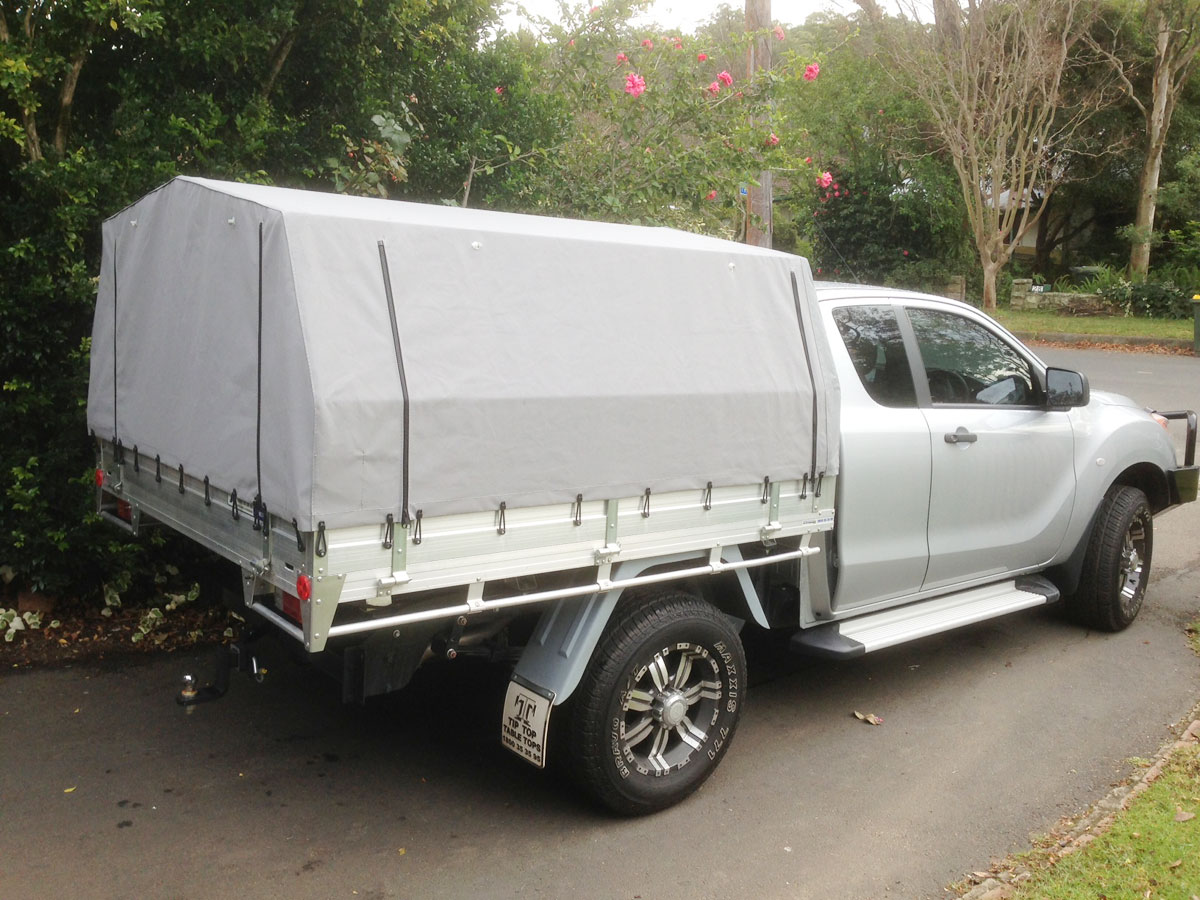 Frame & Canvas Ute Canopy for Tray back utes requiring frame ...