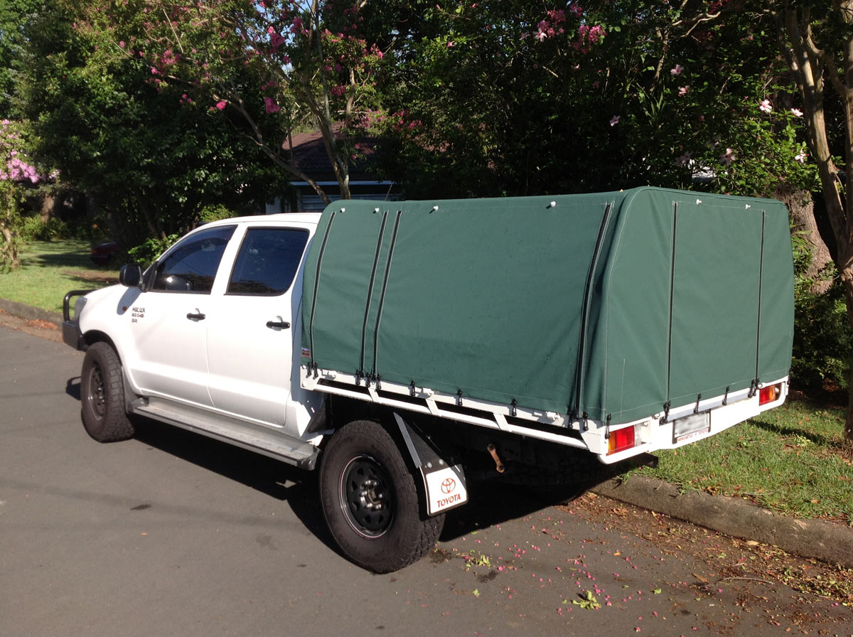 ... Canopy Dual Cab Hilux Ute Canvas covers ... & Canvas canopy kits for Hilux : Wallaby Track Canvas
