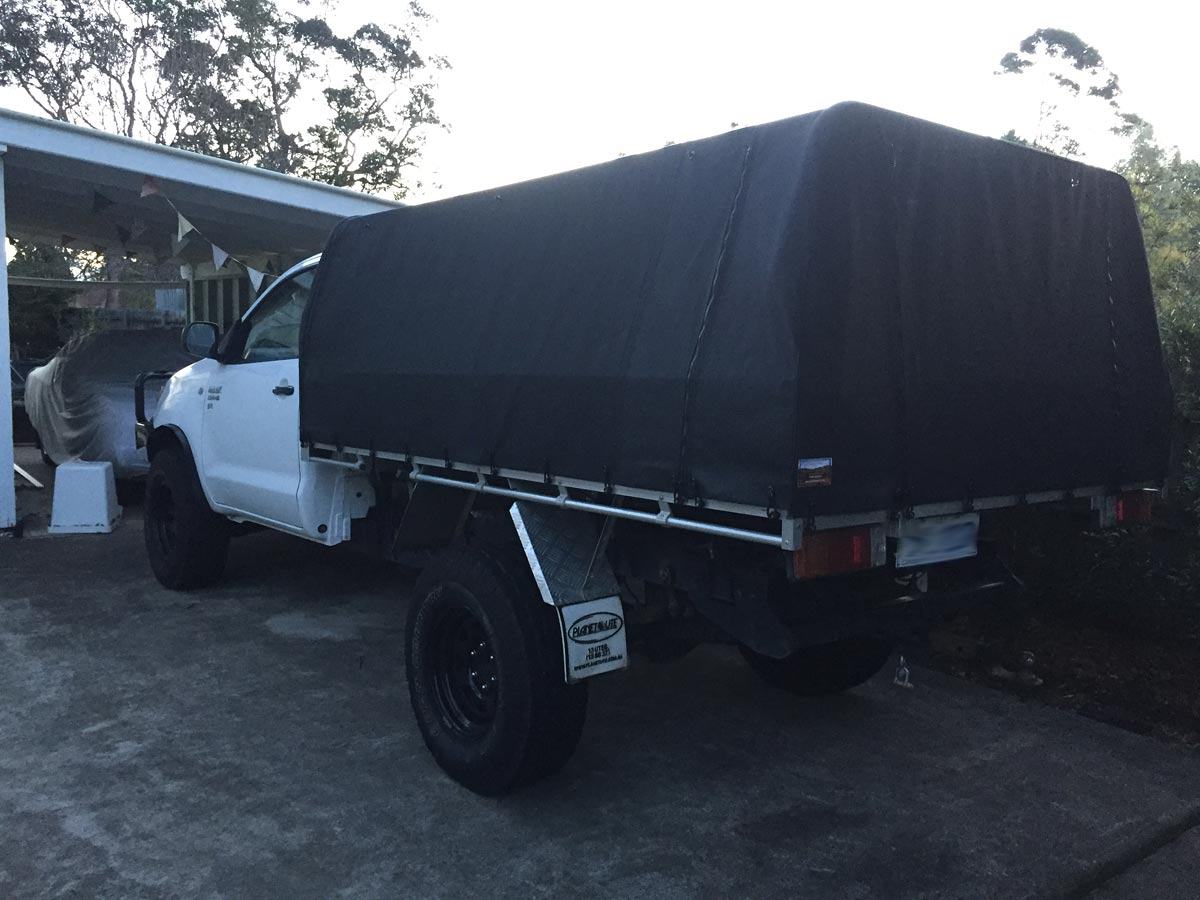 Hilux canvas cover Hilux canvas cover Hilux canvas cover & Canvas Ute Canopies for Trays with existing rear bar:Wallaby Track ...