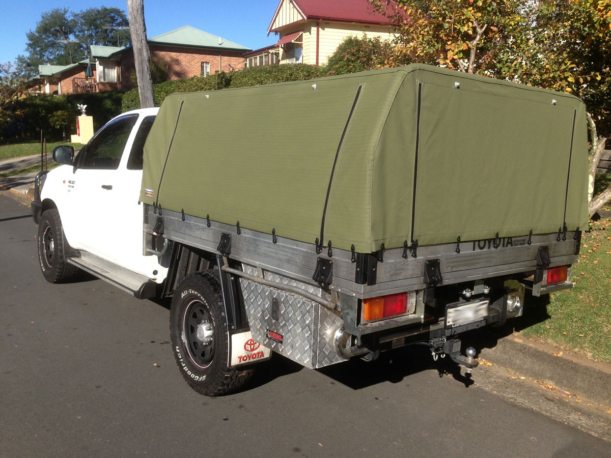 Ute canopies covers wallaby track canvas - Canvas canopy ...