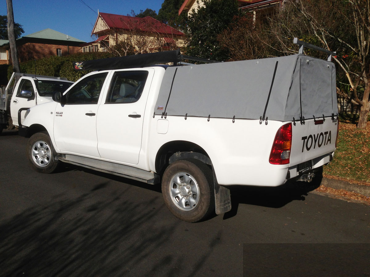 Hilux Dual Cab Tub Canvas Cover Ute Canopies HiLux