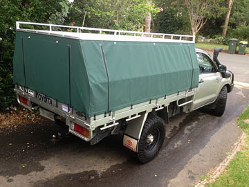 Hilux Hard Top Canvas Covers