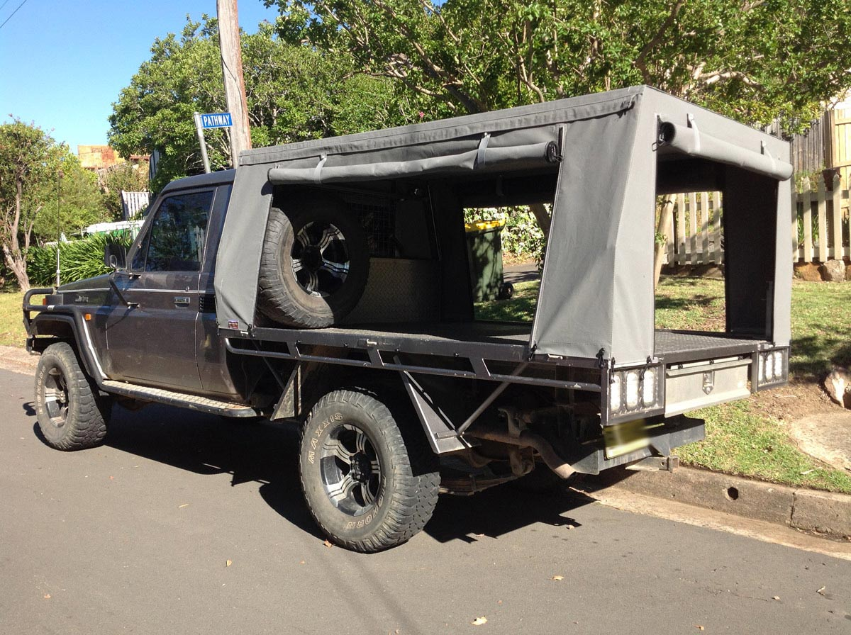 canvas ute covers LandCruiser ... & Frame u0026 Canvas Ute Canopy for Tray back utes requiring frame ...