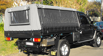 Ute canopies - Landcruiser Canvas Canopies for utes - Landcruiser & Frame u0026 Canvas Ute Canopy for Tray back utes requiring frame ...