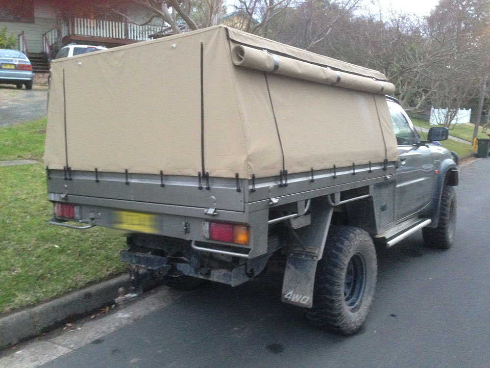 Full Canvas Ute Canopy Patrol ... & Frame u0026 Canvas Ute Canopy for Tray back utes requiring frame ...