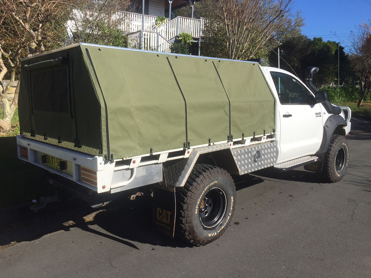 Hard top canvas ute canopies covers wallaby track canvas - Canvas canopy ...