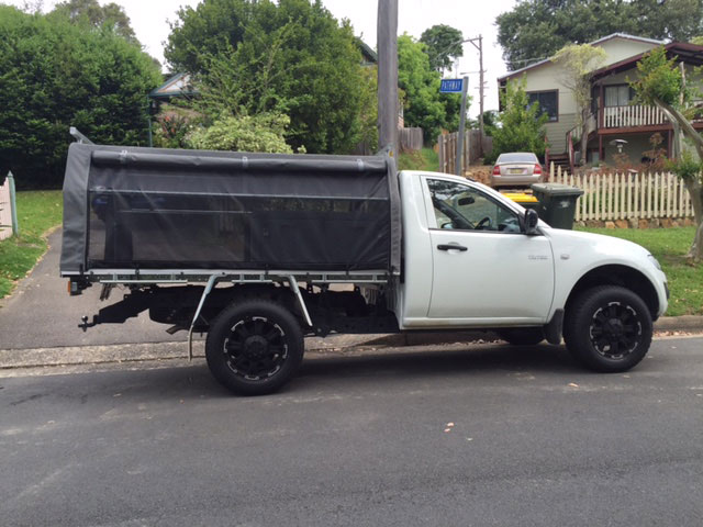 ... canvas ute covers Triton ... & Frame u0026 Canvas Ute Canopy for Tray back utes requiring frame ...