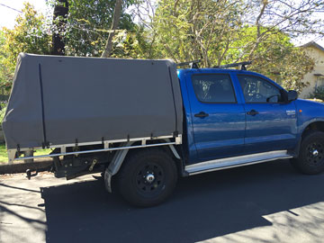 Canvas ute canopies cover