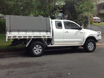 ... Canvas Ute Canopies HiLux ... & Frame u0026 Canvas Ute Canopy for Tray back utes requiring frame ...