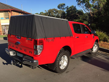 Tub Back Canvas Ute Canopy