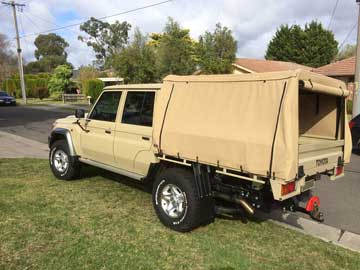 Dual Cab Cruiser with Wallaby Track Kit
