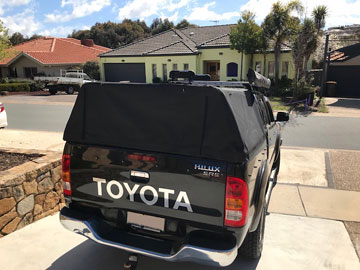Toyota Hilux ute canopy