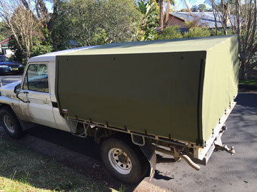 canvas ute covers