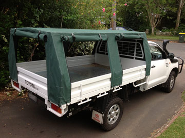 Custom made canvas ute canopies HiLux